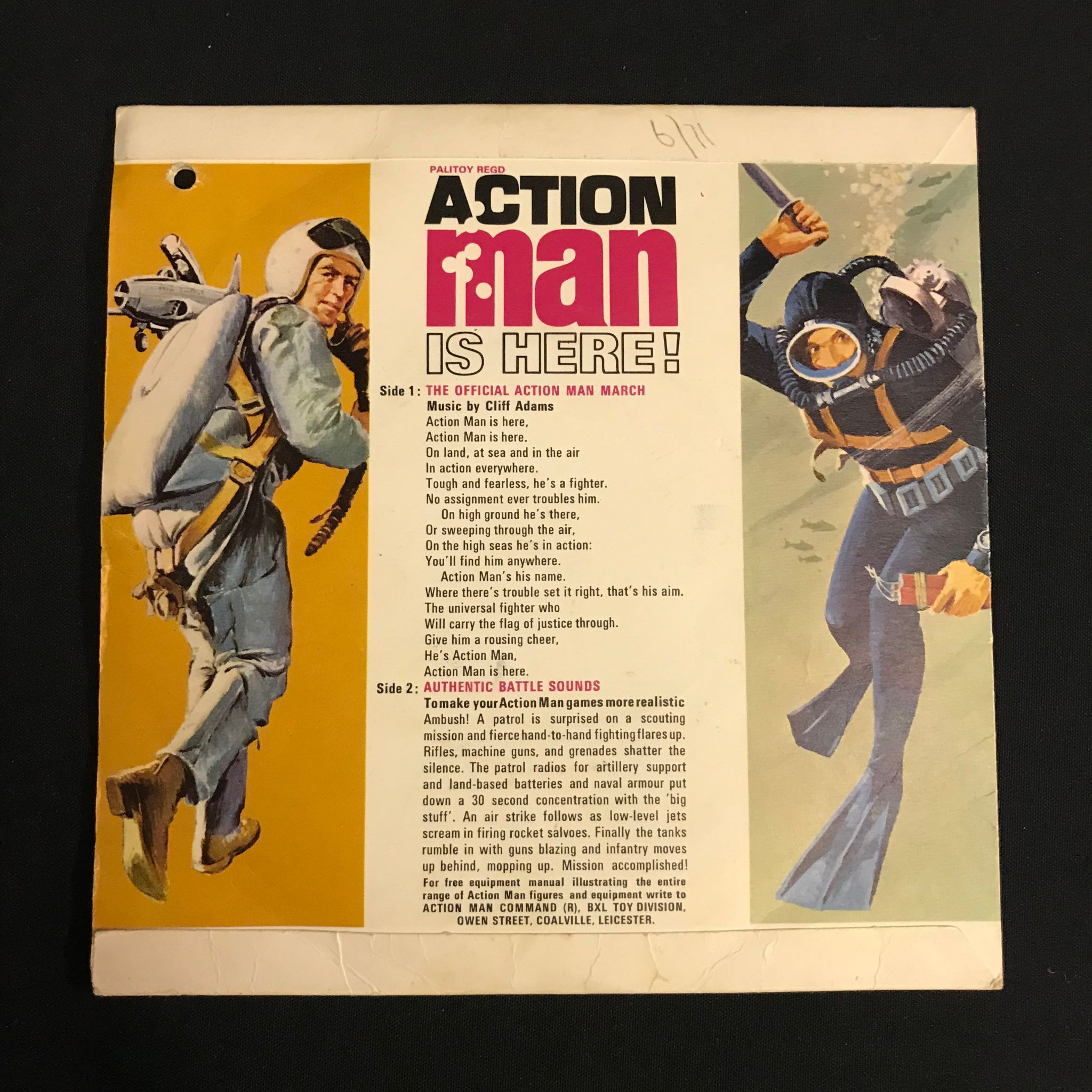 Cliff Adams - Action Man Is Here (Vinyl 7 45 RPM)